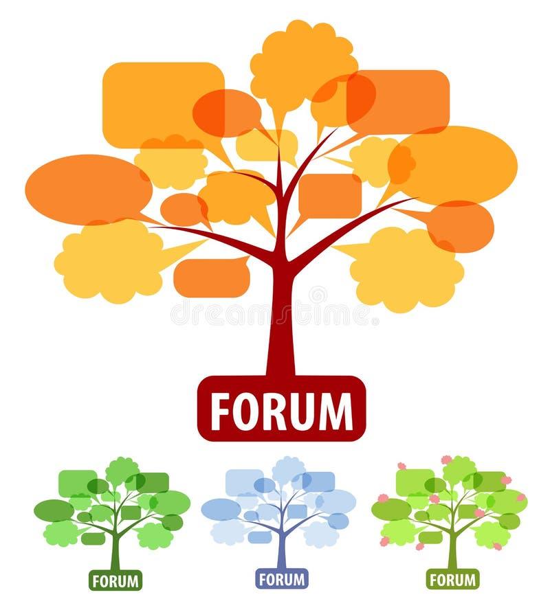 Set der Ikone für Forum stock abbildung
