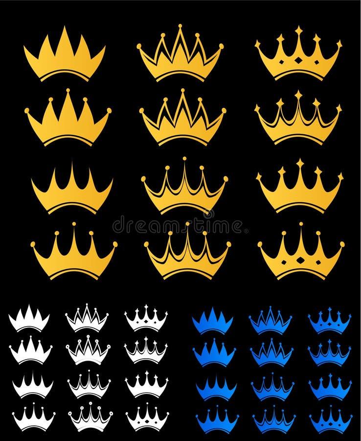 Set der Krone lizenzfreie abbildung