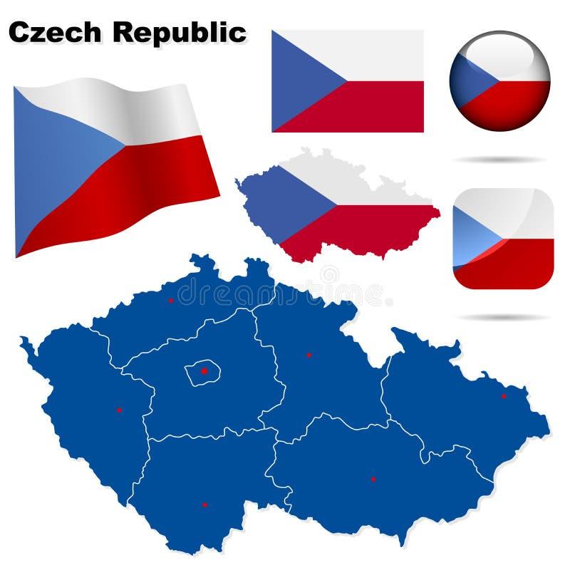 Set der Tschechischen Republik. lizenzfreie abbildung