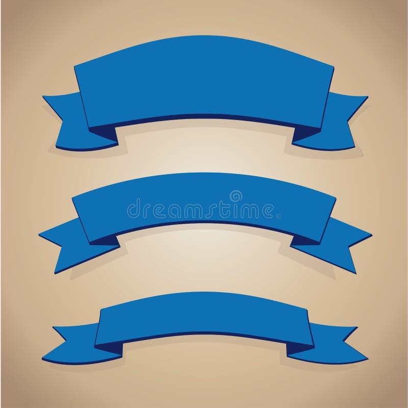 Set des blauen Farbbands vektor abbildung