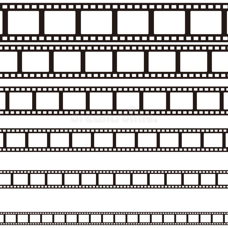 Set des gebogenen fotographischen Filmes film Auch im corel abgehobenen Betrag stock abbildung