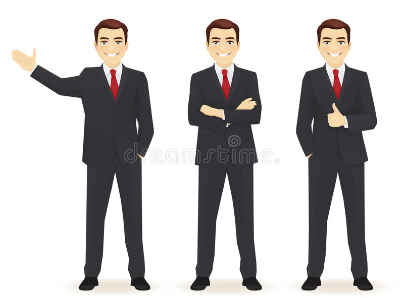Set des Geschäftsmannes stock abbildung