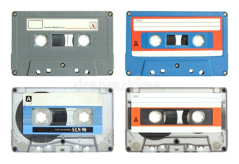 Set des Kassettenbandes getrennt lizenzfreie stockbilder