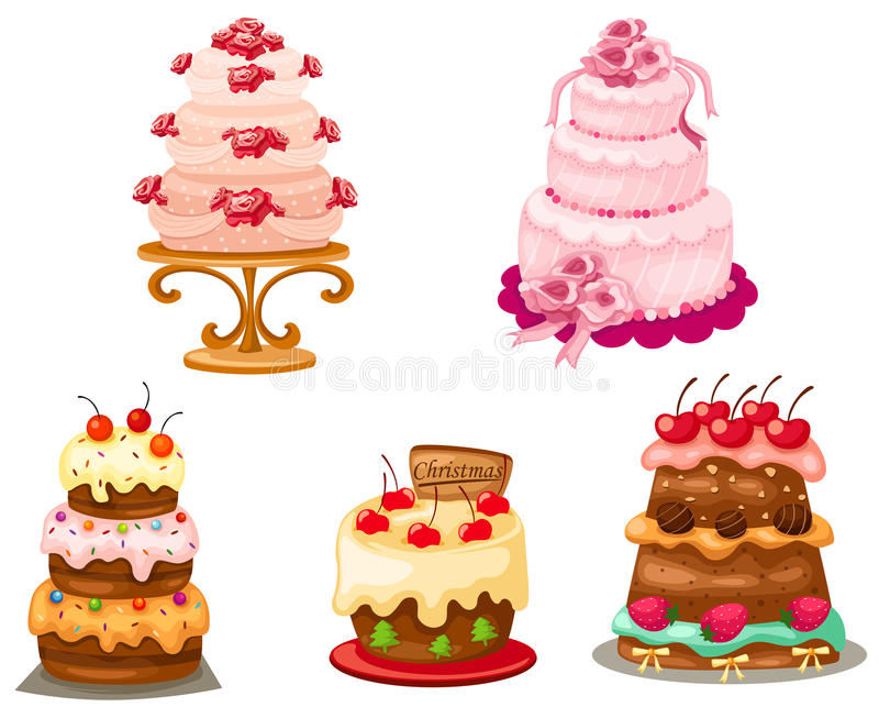 Set des Kuchens lizenzfreie abbildung