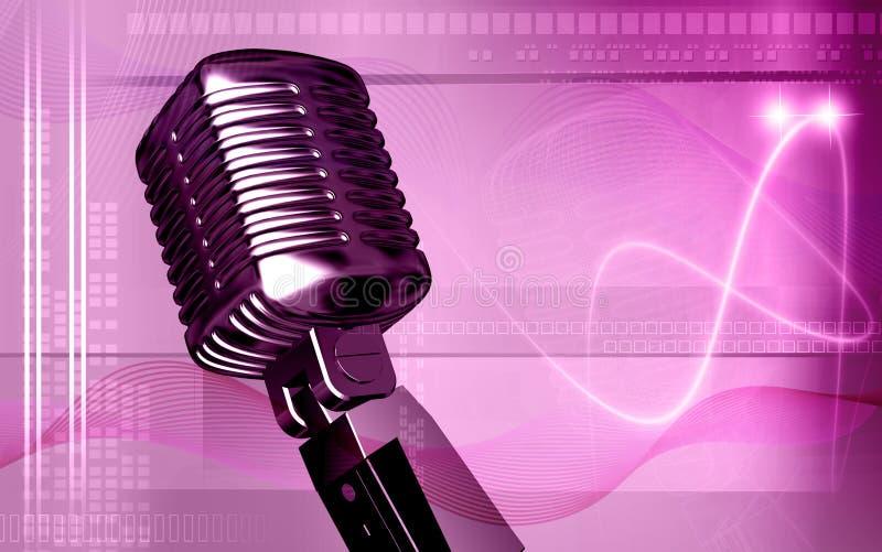 Set des lauten Lautsprechers stock abbildung