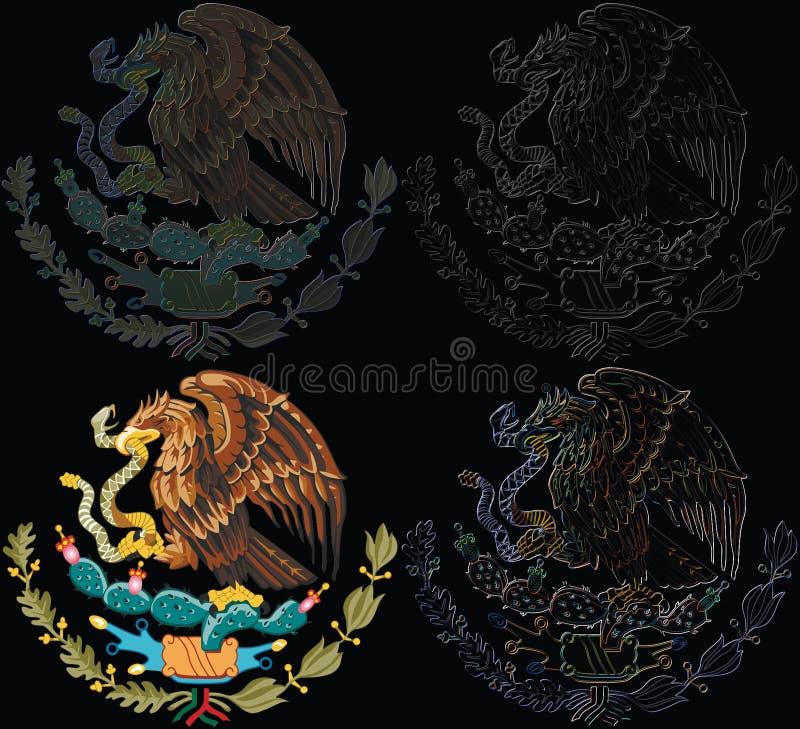 Set des Mexiko-Symbols lizenzfreie abbildung