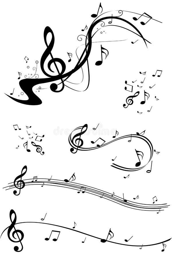 Set des Musikanmerkungsbildes lizenzfreie abbildung