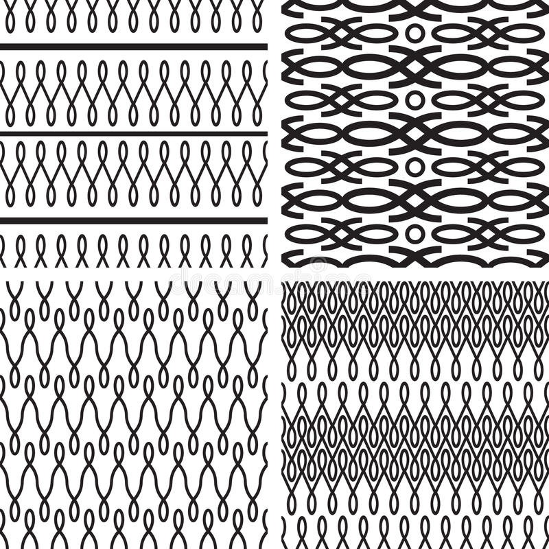 Set des nahtlosen Musters stock abbildung