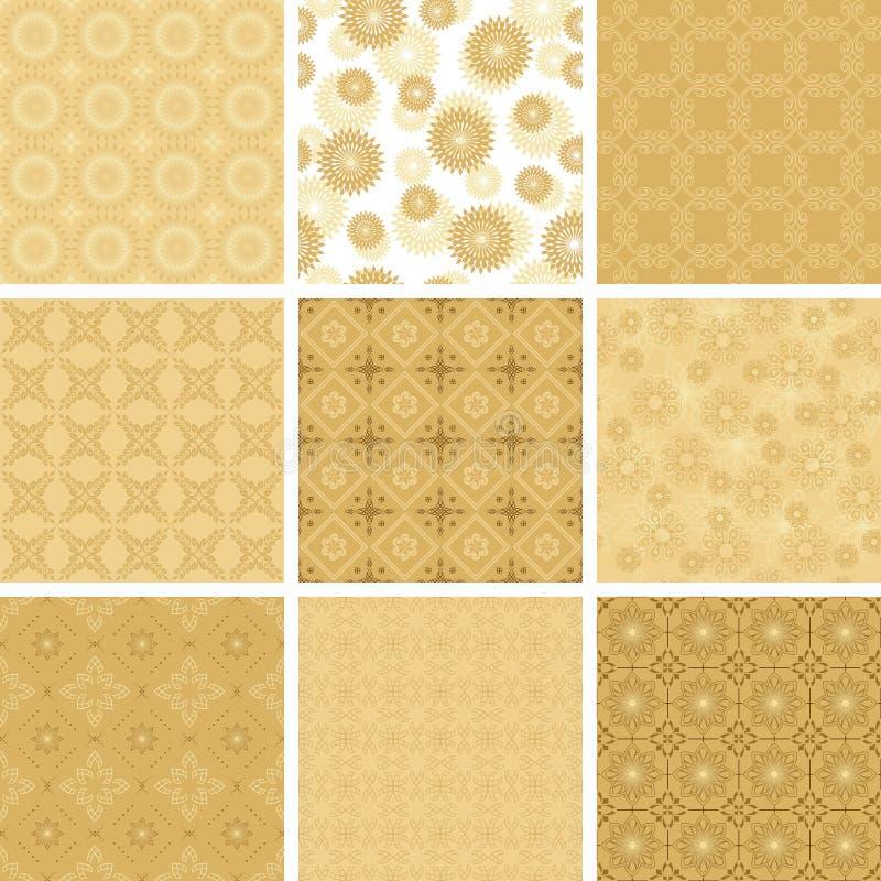 Set des vektorgeometrischen Musters für Dekorationen stock abbildung