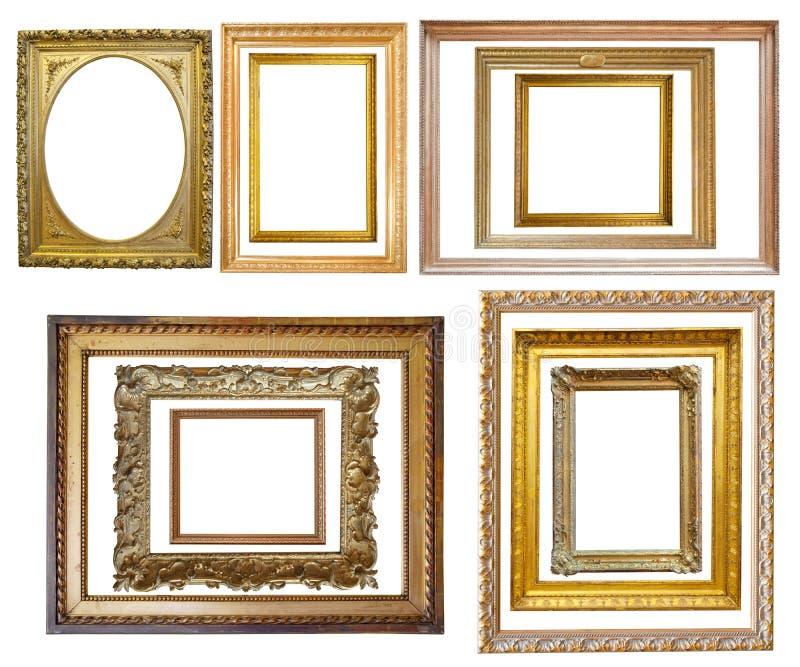 Set des Weinlesegoldbilderrahmens lizenzfreie stockfotografie