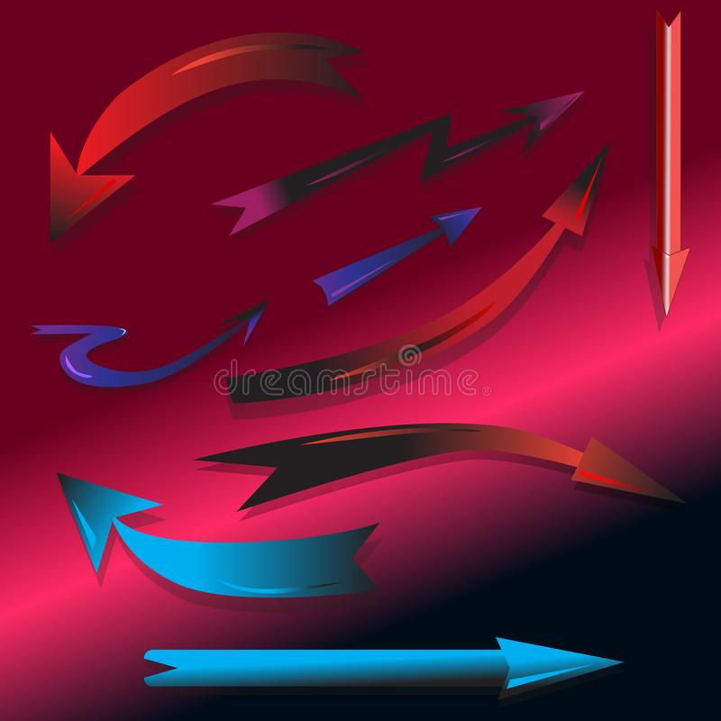 Set-design-arrow-pointers-to-your-work vector illustration