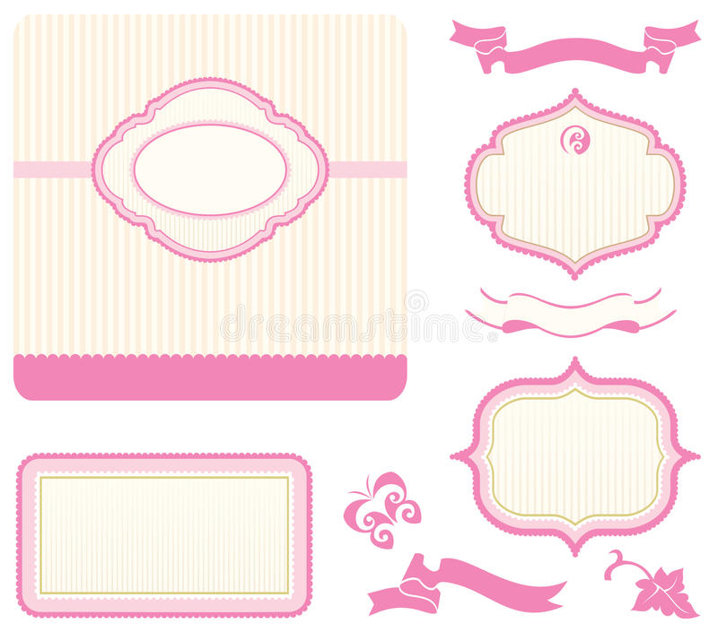 Set of design elements vector illustration