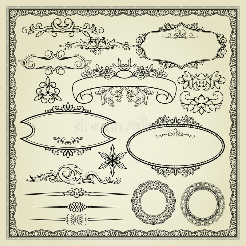 Download Set Of Design Elements Royalty Free Stock Image - Image: 24500416