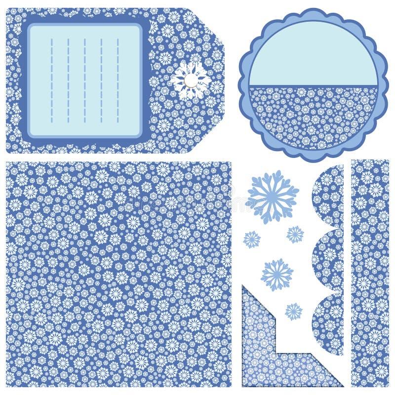 Set of design elements - snow royalty free stock image