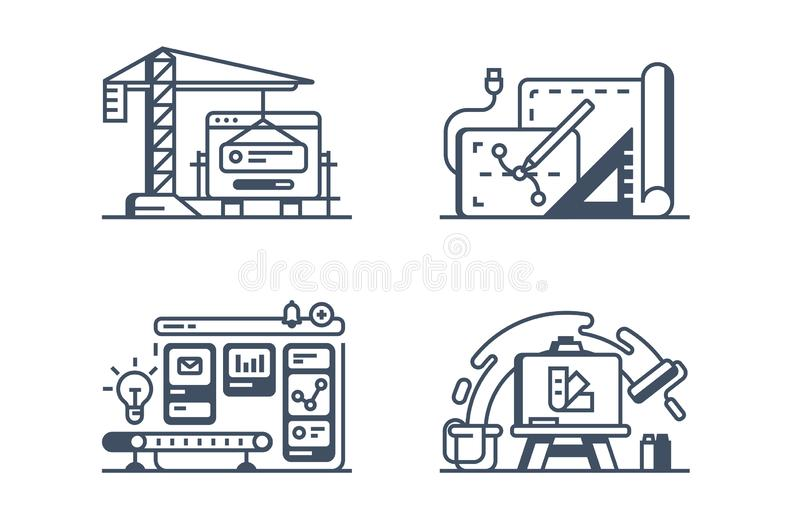 Set design icons vector illustration