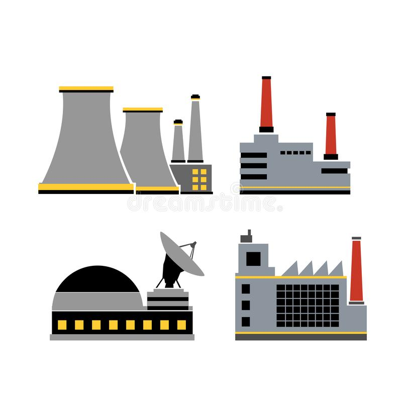 A set of design industrial vector illustration