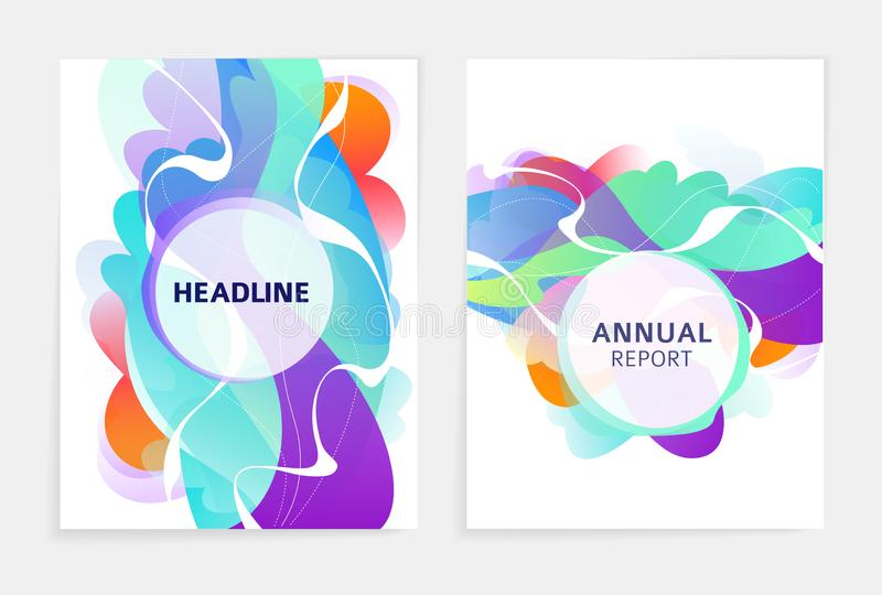 Set of designs for flyer, broshure, book`s cover, poster, web, annual report vector illustration