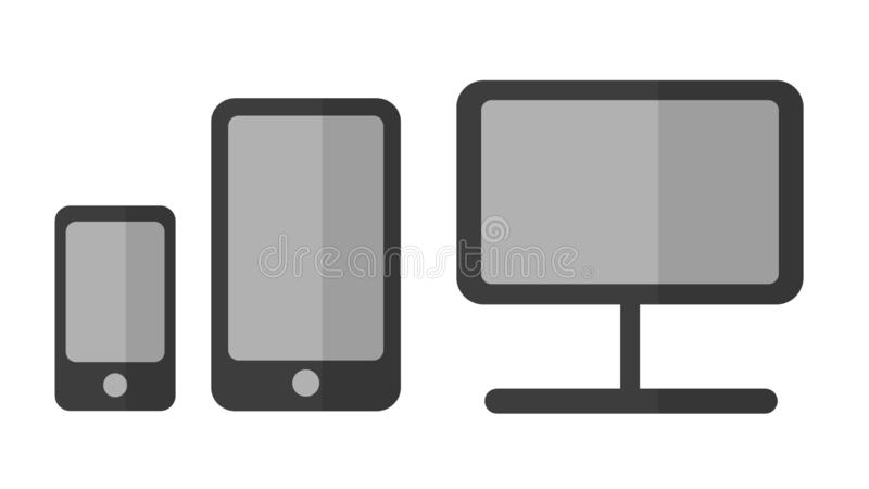 Set of devices royalty free illustration