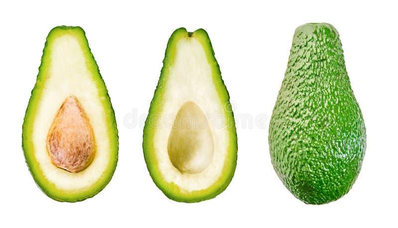 Set di avocado con percorso di clipping immagine stock