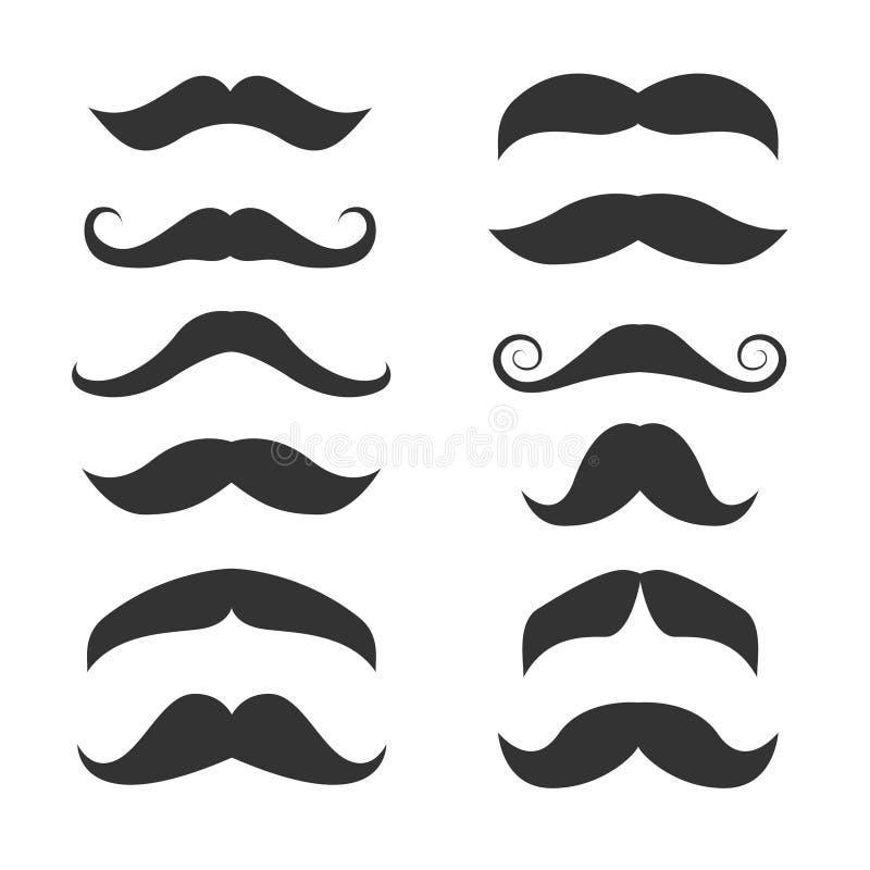 Set di icone Mustache royalty illustrazione gratis