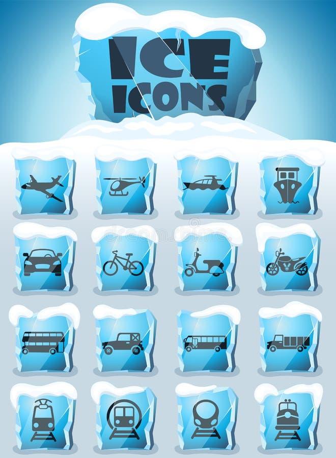 Set di icone trasporto immagini stock