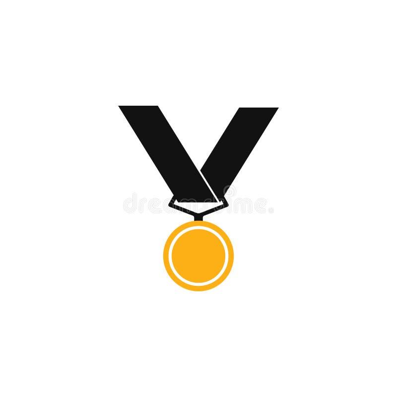 Set di illustrazioni vettoriali dell'icona medaglia royalty illustrazione gratis