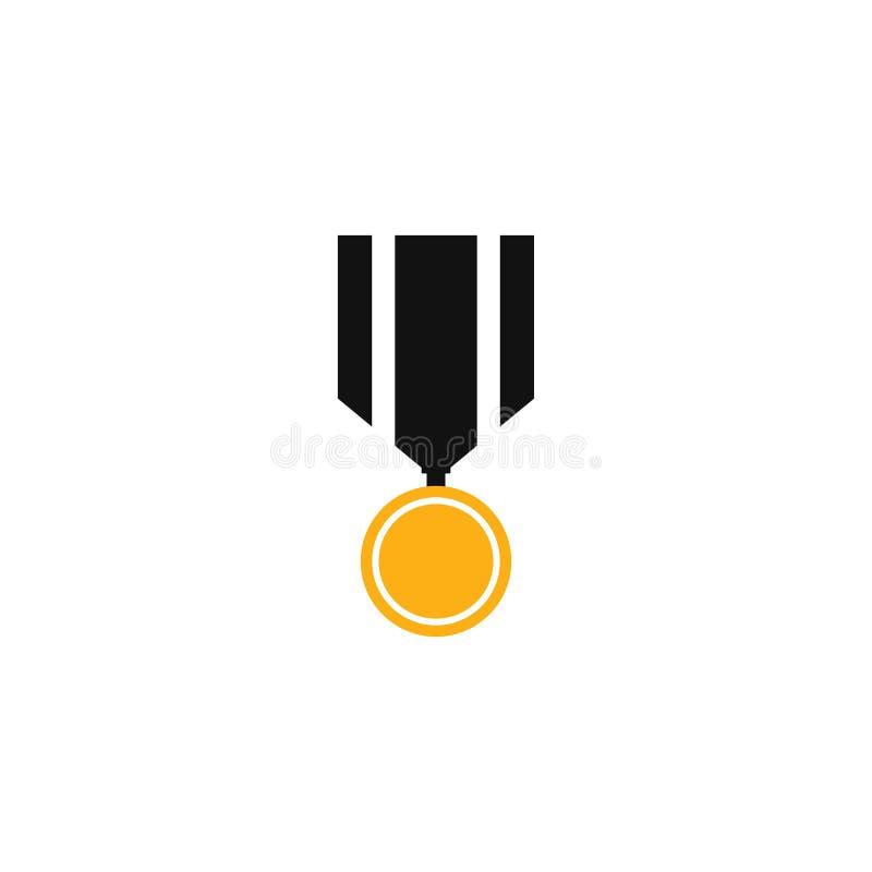 Set di illustrazioni vettoriali dell'icona medaglia illustrazione di stock