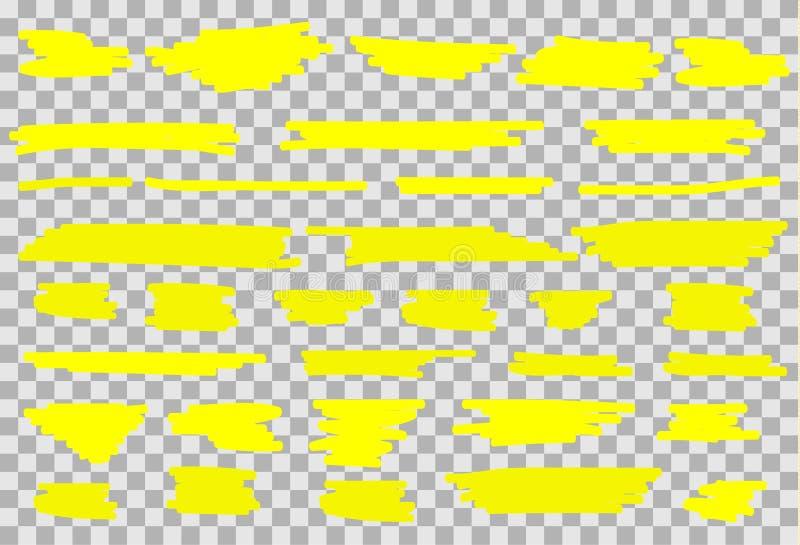 Set di pennelli dell'evidenziatore di vettore illustrazione di stock