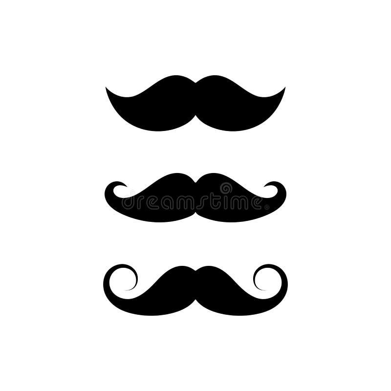 Set di stili Mustache Simbolo Mustache sullo sfondo bianco EPS 10 illustrazione vettoriale royalty illustrazione gratis