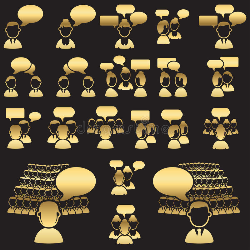 Download Set Of Dialog Icons Stock Images - Image: 28206854