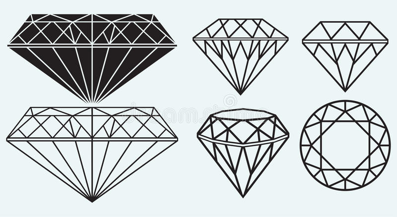 Set of diamond design elements vector illustration