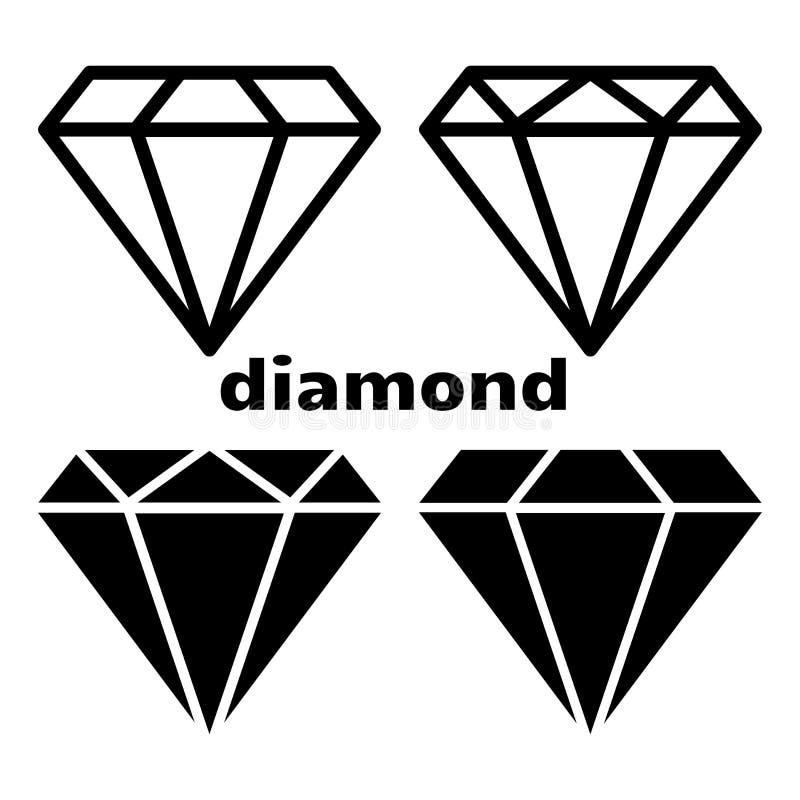 Set of diamond icon. Vector illustration stock illustration