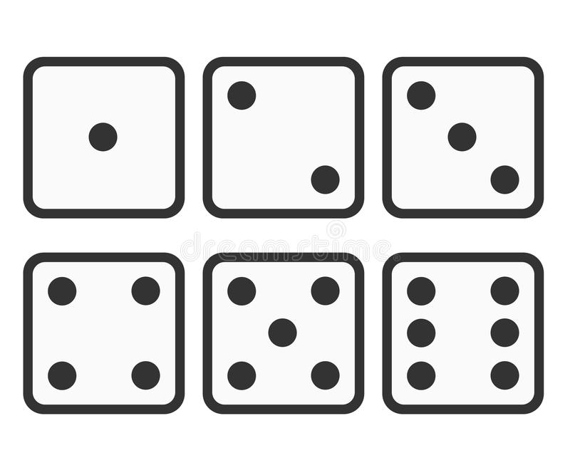 set of dice icon six dice vector illustration stock vector rh dreamstime com vector dice dice vector art