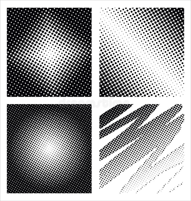 Download Set Of Different Abstract Halftone Stock Illustration - Illustration of artistic, space: 24881447