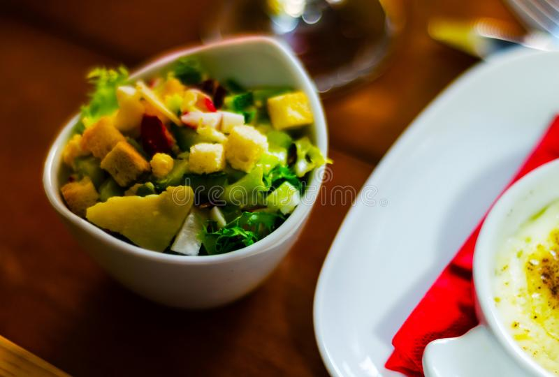 Set with different appetizers in small portions, healthy and del royalty free stock photo