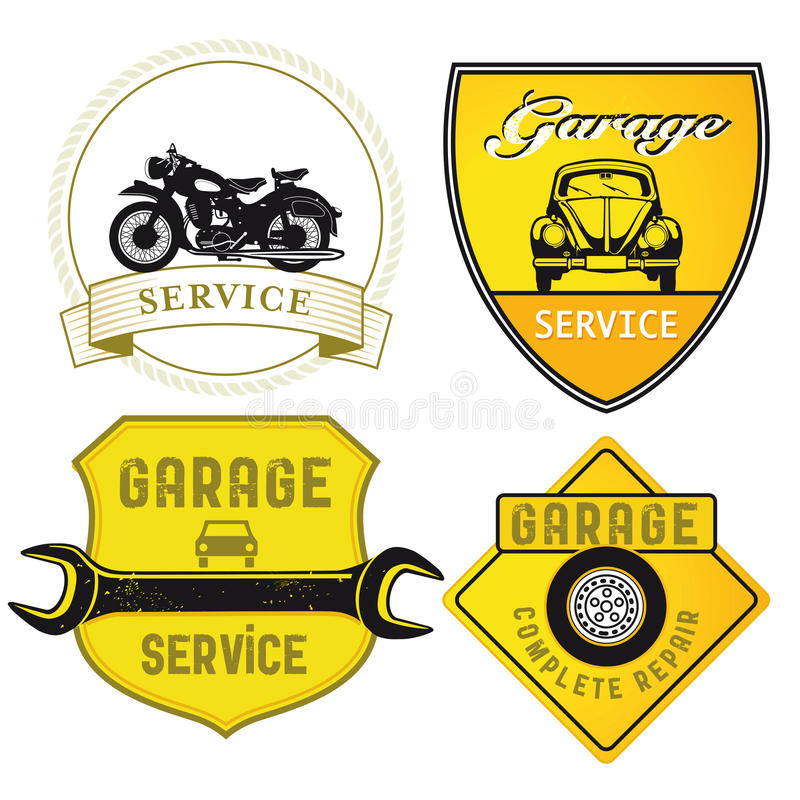 Auto Service Badges Stock Image
