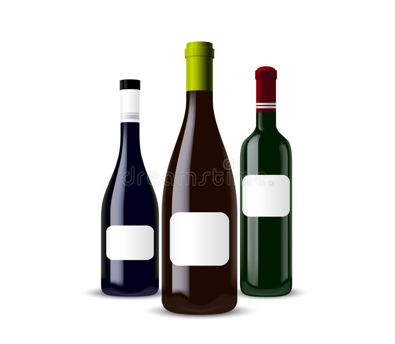 Set Of Different Bottles Royalty Free Stock Photo