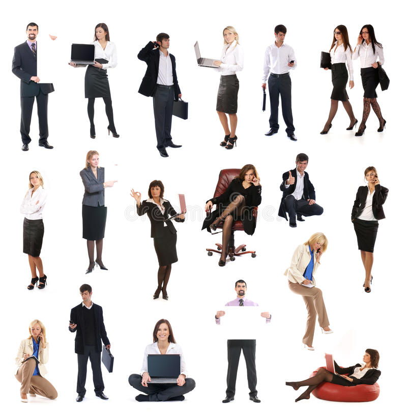 Download A Set Of Different Business People Stock Photo - Image of casual, female: 14362952