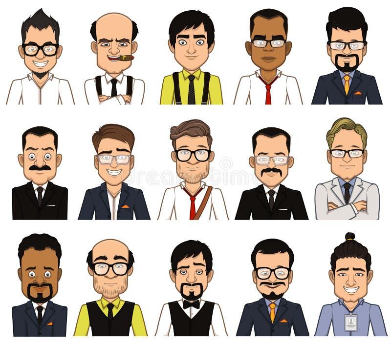Set of avatars businessman royalty free stock photos