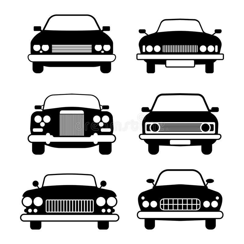 Set Of Different Car Symbols Front View Stock Vector Illustration