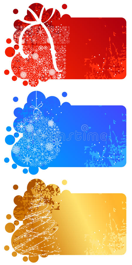 Download Set Of Different Christmas Banners Stock Vector - Illustration of backdrop, delicate: 20987593