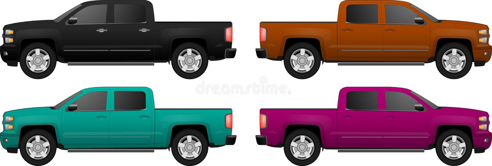 Set of different color car, realistic car models. For web or print, logo, symbol, icon or design can be used in field of motor repairing service, car washing vector illustration