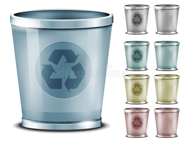 Download Set Of Different Colored Bins Royalty Free Stock Images - Image: 23597599