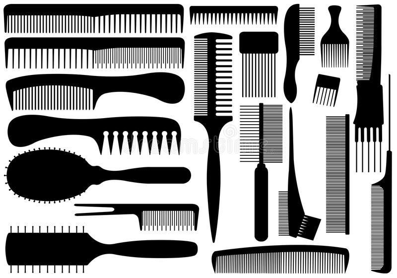 Download Set Of Different Combs stock vector. Image of brush, different - 35783605