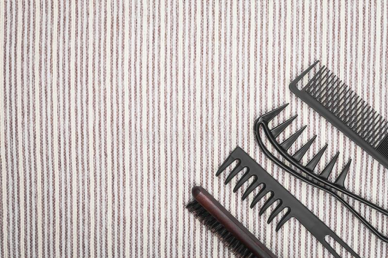 Set of different combs royalty free stock photography