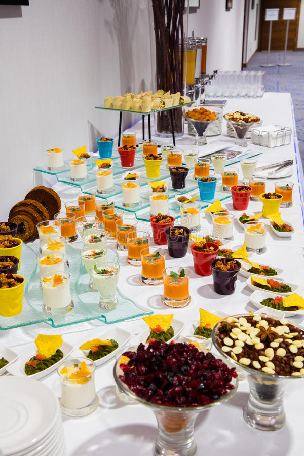 Set of different desserts stock image