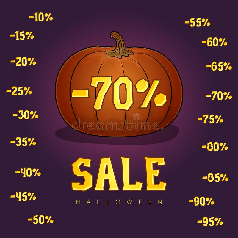 Set of Different Discounts Digits for the Holiday vector illustration