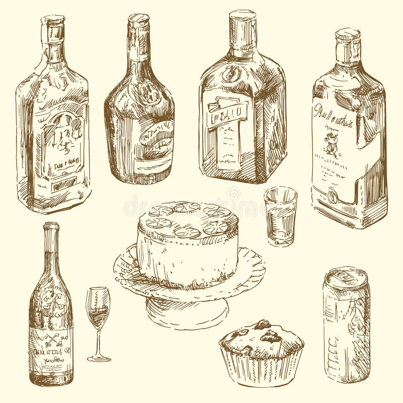 Set Of Different Drinks Stock Image