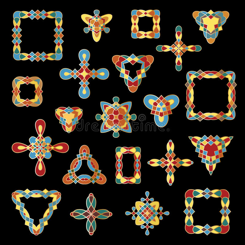 Download Set Of Different Ethnic Signs And Frames. Stock Vector - Image: 83720311