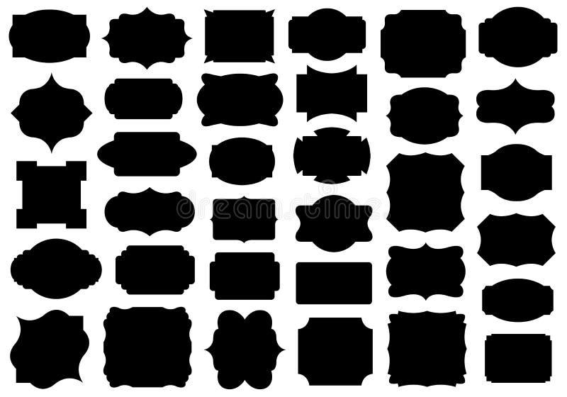 Set of different labels stock illustration